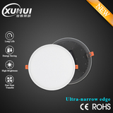 Ultra-narrow edge ultra thin recessed panel lights dimmable or non dimmable