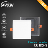 Ultra-narrow edge square ultra thin recessed panel lights dimmable or non dimmable